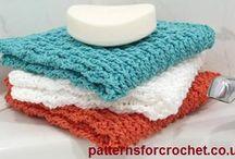 Crochet Facecloths, dishcloths