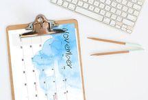 CALENDARS 2017-2018 / calendars 2017, office desk calendars, wall calendars