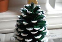 NATURE Crafts (pinecone, wood & leaf ) // Ötletek természetes alapanyagokból (toboz, falevél, faág)
