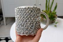 Cache mug en laine