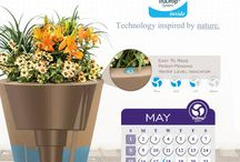 TruDrop Self Watering System / Patented Water Gauge design on our TruDrop self-watering system makes it easy to ready how much water you have left in your container. With four different readings it is more accurate and with its discreet design let's your plants be the protagonist.