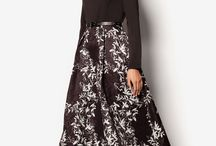 COLOR Black&White / Black&White Abayas, Maxi skirts and Sleeved Maxi Dresses