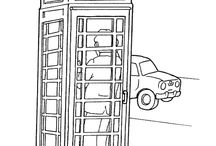 London coloring pages