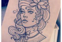 estudos, desenhos, tattoo
