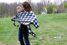 Babywearing in winter / Nošení dětí v zimě