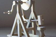 mecanismos de movimiento con ejes y piñones