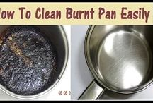 How to Clean Burnt Pan easily