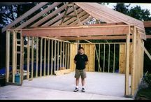 Home construction methods / You can plaster over anything - from plywood lath to woven twigs (wattle), straw bales etc. Waterproofed cement plaster on exterior walls, cheaper clay-and-sand plaster on interior walls. Dyed clay water is used to paint the surface of exterior walls. Spacing between lath strips/twigs is crucial for the plaster to adhere properly. When plastering, first apply a thick layer of fiber-reinforced (cement) plaster for strength, then a thin layer of cosmetic plaster without fibers for appearance.