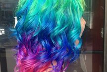 Rainbow hair colours