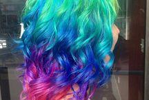 Rainbow hair colours / by Anna Nuttall