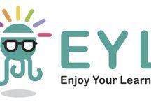 Enjoy Your Learning / EYL è un progetto culturale che sperimenta il potere coinvolgente di una didattica partecipativa orientata ai social media e aperta al mondo delle imprese.  Follow us on: www.eyleducation.it Facebook - Enjoy Your Learning Twitter - @EnjoYLearning LinkedIn - Enjoy Your Learning YouTube - EnjoYourLearning1 Diigo - Enjoy Your Learning