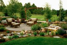 Personal Paradise / Our clients wanted to turn their bare, expansive backyard into peaceful backyard retreat. We created a water feature that falls into a custom meandering stream for the family to relax by. The whole outdoor area is designed between local Colorado trees, shrubs, and wildflowers.  #ColoradoCustomDecks #MosaicOutdoorLiving Find us at http://coloradodecks.com/