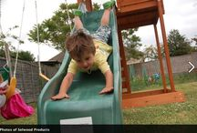Slides / Slides are fun, enjoyable and can be exhilarating! You've got to get up to come down so slides are great way for kids to get some exercise whilst having a blast with their friends