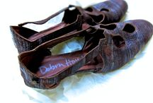 Emma / These vintage inspired shoes are made of wax-striated kid skin.