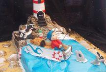 un faro sul mare / torta faro