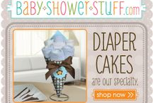 Baby Shower Diaper Cakes / Creative DIY Baby Shower Diaper Cakes - tons of cute diaper cakes and diaper cake alternatives to inspire you!