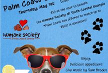 Yappy Hour / Yappy Hour is an event held at local businesses/restaurants to help support the Humane Society of South Coastal Georgia.  It's complete with live music, arf d'oeuvres, gourmet doggie treats, doggie daiquiris, and fresh spring water.  Sponsors from around town are happy to participate with raffles and giveaways.  Pets aren't the only ones having fun!  People get to enjoy a variety of appetizers provided by local restaurants and of course Yappy Hour cocktails!