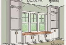 Innebygde vinduer med sitteplass