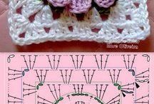 Crochet Squares - granny etc