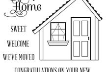 Uniko Home Sweet Home / Projects featuring Uniko's Home Sweet Home clear stamp set.