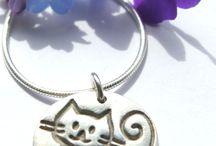 Cat jewellery / Handmade silver jewellery featuring cute cats