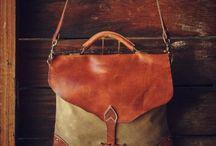 Canvas leather tassen