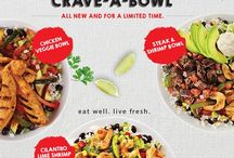Baja Fresh New! Real Crave-A-Bowls / At Baja Fresh, we craft every bite from real ingredients that deliver real artisan flavor. Try one of our new, savory bowls and taste the difference. Fire-grilled and made to order, all three are here now, but not for long. So try one today.