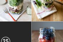 Mason Jar ideas / all sorts of things that can go in Mason Jars
