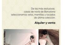 NUESTRA MARCA / De las mas exclusivas casas de novia de Barcelona, importamos velos, mantillas y tocados de  ultima coleccion.