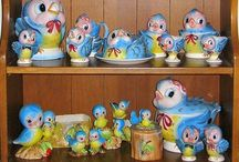 Lefton Bluebird Pottery