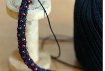 вязание  плетение с приспособлениями
