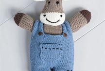 Doudous au tricot et crochet