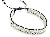 Silver Friendship Bracelets With Silk