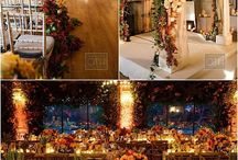 Autumn Wedding at Oheka Castle / Autumn colors inspired this Tuscan style banquet at Oheka Castle.  Photos by Christian Oth.