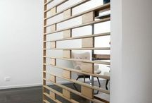 Room Dividers / Ways to divide up your modern open-plan space creating subtle privacy area;s