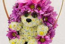 Цветы игрушки (из цветов)