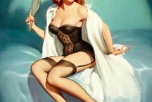 Vintage pin-up artists  / Some of our favorite pin-ups from the Pin-up Files galleries ... / by The Pin-up Files