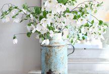 Vintage flower decor