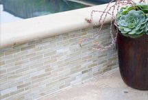 Outdoor Tile Ideas / The great outdoors deserves great tile! Here's some outdoor tile uses and designs to inspire your next outdoor project. You can find many of these tiles at Byrd Tile Distributors. We have 2 gorgeous showrooms, one in Raleigh, NC  and one in Greenville, NC. Come check us out today! http://byrdtile.com/
