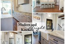 Before and After - Modern and Bright Kitchen -Texas White House