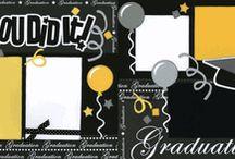 Scrapbooking layouts for high school/graduation