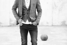 Menswear / Simply put, this is what I find attractive: playing between clean tailored cuts, a variety of patterns/textures & comfy casual knits.  / by Courtney Slingo
