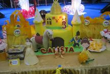 3rd Birthday / tema : princess belle n all about yellow this year, her fav colour is yellow. so we use belle for her bday.