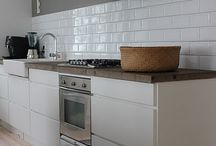 White tiles kitchen