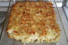 μακαρόνι κοφτό φούρνου με αυγά γάλα τυριά