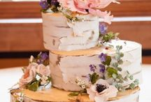 Woodland wedding cakes