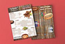 Φυλλάδια / Διαφημιστικά φυλλάδια εταιρειών και καταστημάτων που αναλάβαμε τον σχεδιασμό τους.