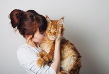 My Love, My Life / 3 mainecoons + Anastasia + Alexander
