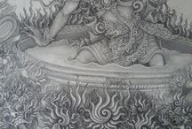Balinese traditional painting