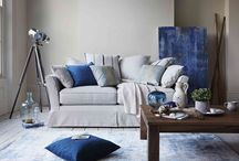 Deep Sea / This look brings the calming influence of the sea in to your home. Blues continue to be prominent this year - think deep cobalts and rich, jewel-like shades. Mix contrasting rustic and natural materials and textures. Natural, breezy and truly relaxing.